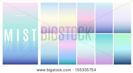 Soft color background design. Creative Gradient set for greeting card flyer invitation poster brochure banner calendar