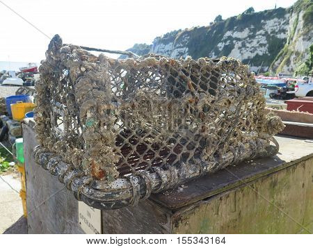 Lobster Pots On Beach