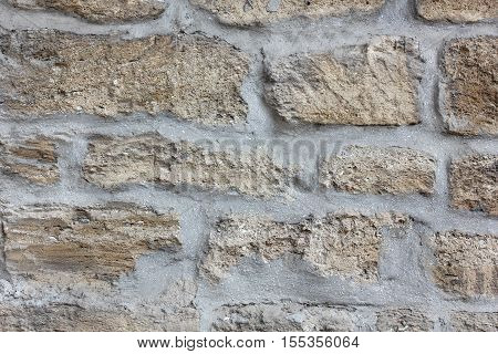 stonework of the old gray limestone texture background