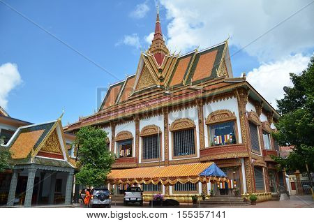 Buddhist Temple Wat Preah Prom Rath In Siem Reap, Cambodia