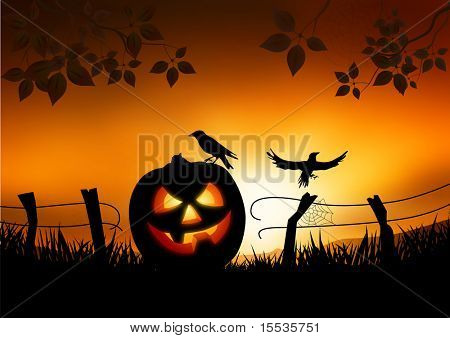 Scary Halloween themed vector background