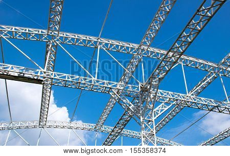 White Materials Structure for roof construction and sky