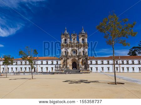 Alcobaca Monastery - Portugal - architecture background