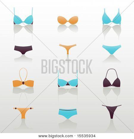 illustration with woman underwear set