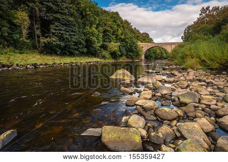 Ridley Bridge over River South Tyne, is a stone arch road bridge, located upstream from Haydon Bridge in Northumberland