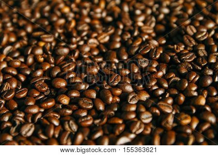 The background of Arabica beans on full screen