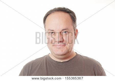 middle aged man in his forties with a smile on his face