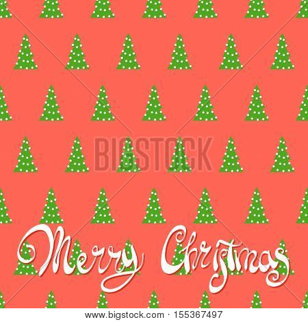 A lot of Christmas trees on a red background with the words Merry Christmas magic