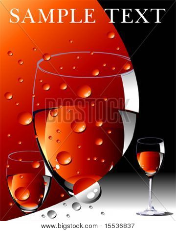 vector wine layout in red and black