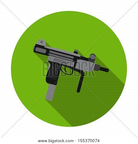 UZI weapon icon in flat style isolated on white background. Weapon symbol vector illustration.