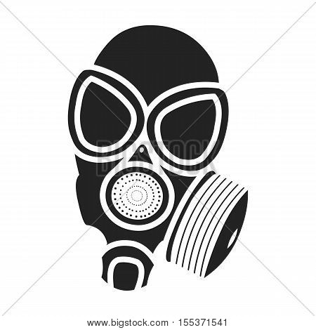 Gas mask icon in black style isolated on white background. Weapon symbol vector illustration.