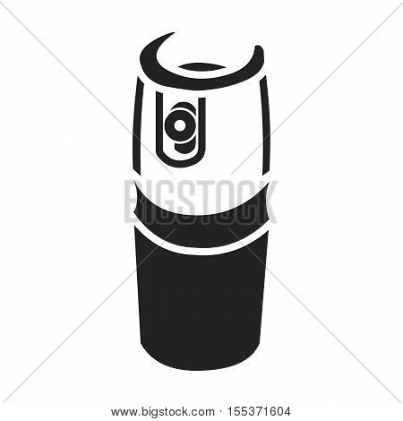 Gas canister icon in black style isolated on white background. Weapon symbol vector illustration.