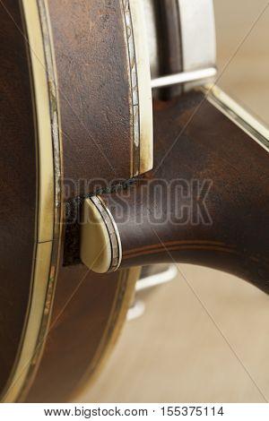 Banjo heel close up