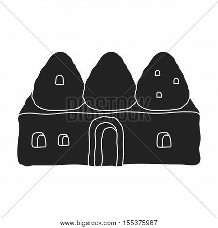Beehive house icon in black style isolated on white background. Turkey symbol vector illustration.