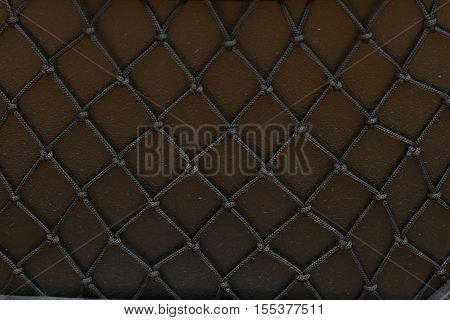 dark brown color of nets rope abstract background
