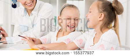 Happy Smiling Sisters