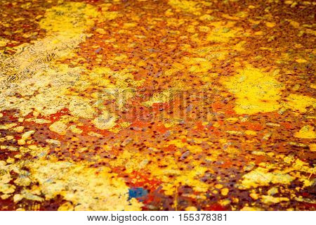 rusty steel plate background use for industrial background.