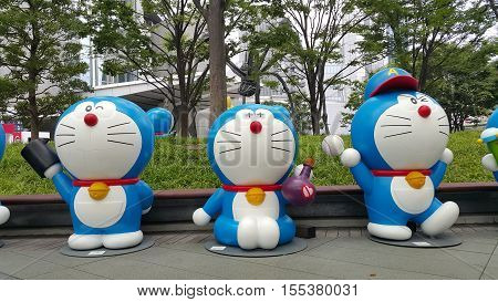 Roppongi Tokyo - 18 July 2016 : Doraemon's model  exhibition at the Roppongi Hill.