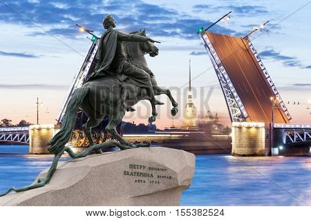 Monument To Peter The Great In St. Petersburg