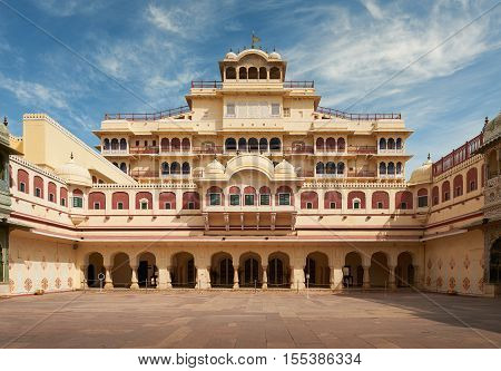 Mubarak Mahal In Jaipur City Palace, Rajasthan, India.