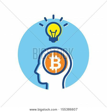 Fintech Financial Technology Bitcoin Big Idea Thinking Concept infographic