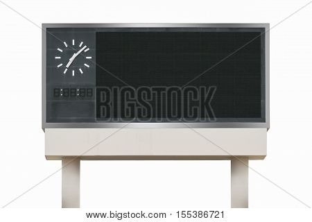 Large scoreboard arena isolated on white background. use clipping path