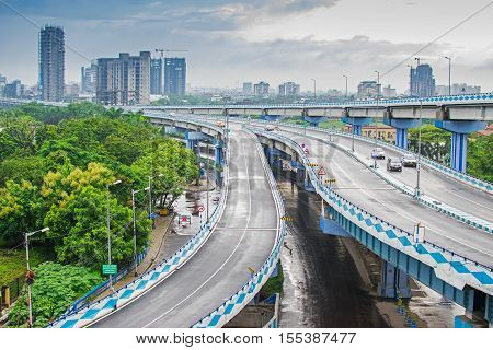 Parama Island flyover popularly known as Ma or Maa flyover is a 4.5 kilometer long flyover in Kolkata. It is built as a traffic corridor from Alipore to Eastern Metropolitan Bypass two busy areas of Kolkata West Bengal India.
