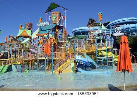 Aquatica waterpark Orlando Florida USA - October 23 2016: Walkabout Waters adventure ride in Aquatica waterpark