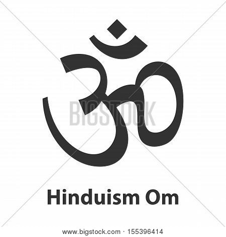 Icon of Om or Aum symbol. Hinduism religion sign