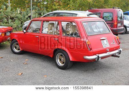 Red Oldtimer Car