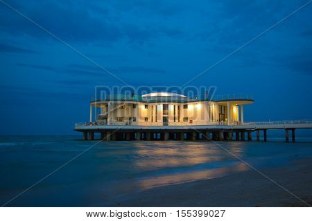 The Rotonda a mare of Senigallia by night, Marche - Italy.