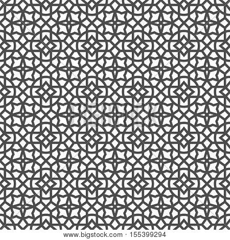 Arabic geometric seamless pattern. Ethnic modern background in Islamic style. Vector illustration