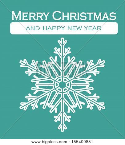 Christmas Card - Merry Christmas Happy New Year Decorative Card Letter Background Illustration Vector Flat Stock