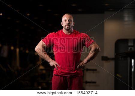 Bodybuilder Flexing Muscles