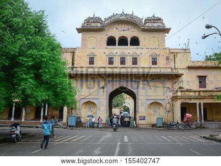 People On Street In Jaipur, India