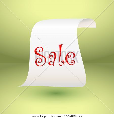 White paper roll vertical for sale design background, vector illustration