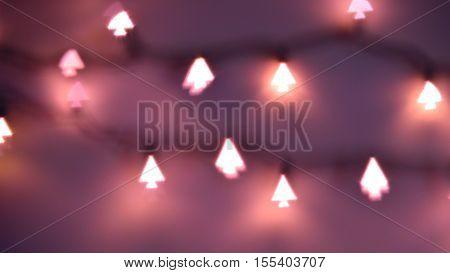 Christmas Tree Shaped Lights, Bokeh