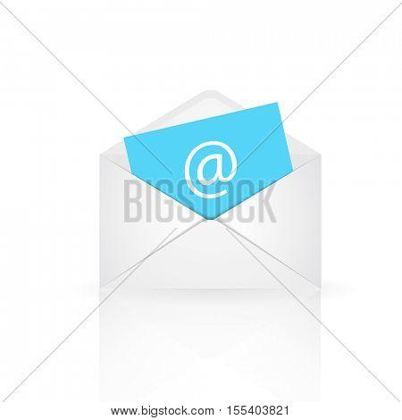 Email envelope illustration on a white background