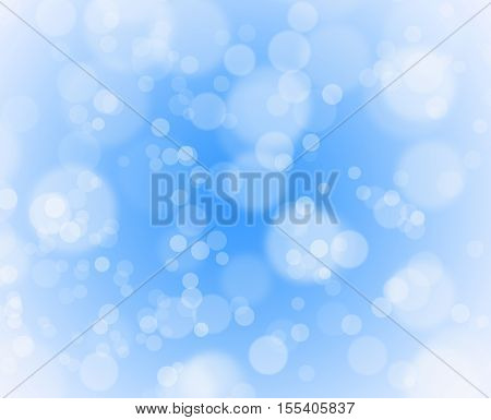 blue christmas background with bubbles for holiday card