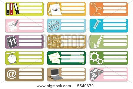 Science and industry icon symbol business sticker item print for short note graphic design and clipping paths.