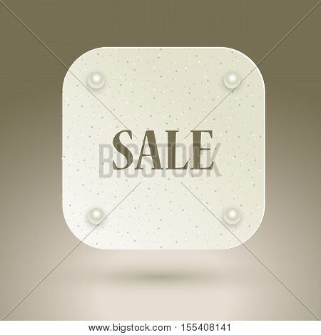 Sale icon for flyer, poster, shopping, for sale sign, discount, marketing, selling, banner, web, header Abstract icon for text type quote. Vector illustration EPS10