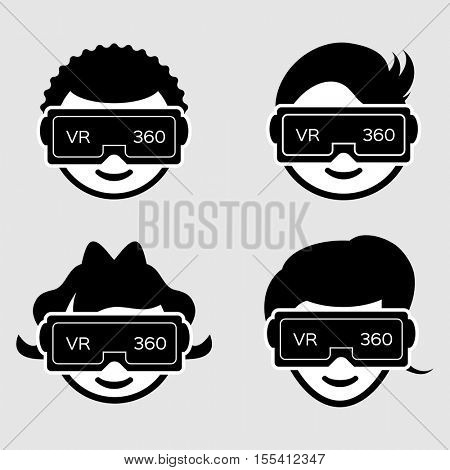 Avatars wearing Virtual Reality headset.