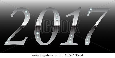 Happy new year 2017 creative greeting card design Year 2017 vector design element.