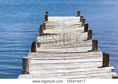 Turkey Old fishing pier at Dalyan beach