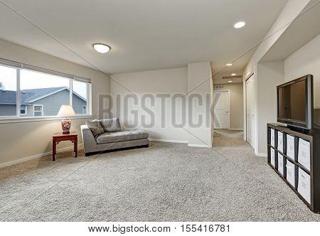 Empty Living Room Interior Upstairs