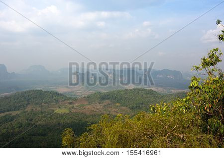 Tab Kak - Hang Nak Hill national park in Krabi province Thailand