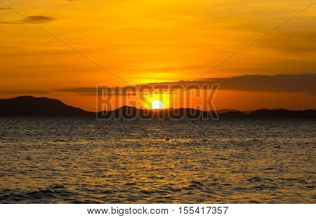 Andaman sea on sunset Krabi province Thailand
