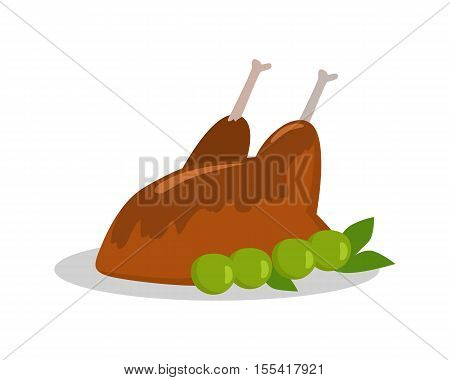 Food banner. Grilled delicious meat Junk unhealthy food. Consumption of high calories nourishment food. Food that leads to overweight. Part of series of promotion healthy diet and good fit. Vector