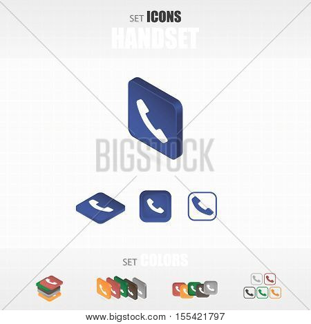 Set Of Icons Handset.