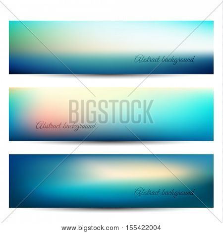 Abstract blurry natural background banners - eps10